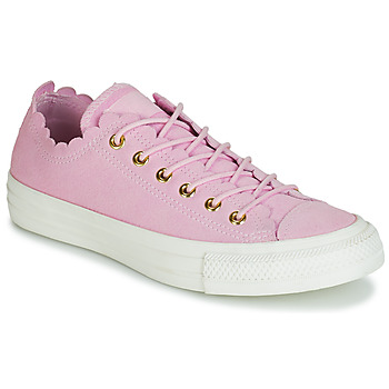 Scarpe Donna Sneakers basse Converse CHUCK TAYLOR ALL STAR FRILLY THRILLS SUEDE OX Rosa