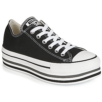 Scarpe Donna Sneakers basse Converse CHUCK TAYLOR ALL STAR PLATFORM EVA LAYER CANVAS OX Nero