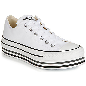 Scarpe Donna Sneakers basse Converse CHUCK TAYLOR ALL STAR PLATFORM EVA LAYER CANVAS OX Bianco