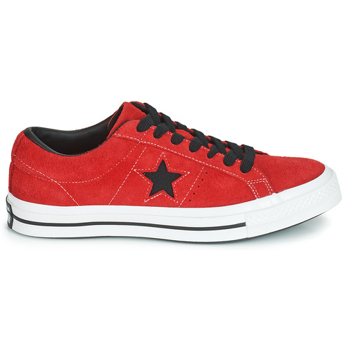 Basse Star Suede Ox Sneakers Dark One Rosso Converse Vintage YyIm7g6vfb