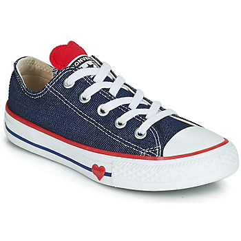 Scarpe Bambina Sneakers basse Converse CHUCK TAYLOR ALL STAR SUCKER FOR LOVE DENIM OX Blu