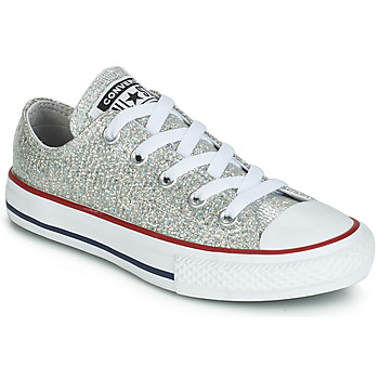Scarpe Bambina Sneakers basse Converse CHUCK TAYLOR ALL STAR SPARKLE SYNTHETIC OX Grigio