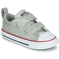 Scarpe Bambina Sneakers basse Converse CHUCK TAYLOR ALL STAR 2V SPARKLE SYNTHETIC OX Grigio