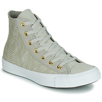 Scarpe Donna Sneakers alte Converse CHUCK TAYLOR ALL STAR SUMMER PALMS HI Verde