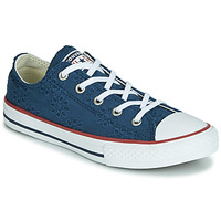 Scarpe Bambina Sneakers basse Converse CHUCK TAYLOR ALL STAR BROADERIE ANGLIAS OX Marine