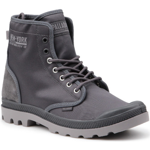 Scarpe Uomo Sneakers alte Palladium Pampa Solid Ranger 76013-075-M grey