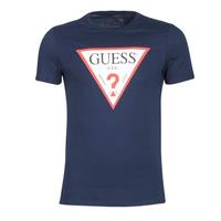 Abbigliamento Uomo T-shirt maniche corte Guess ORIGINAL Marine