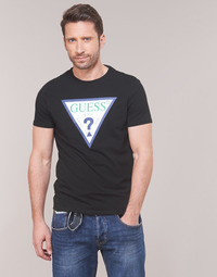 Abbigliamento Uomo T-shirt maniche corte Guess GUESS CLUB Nero
