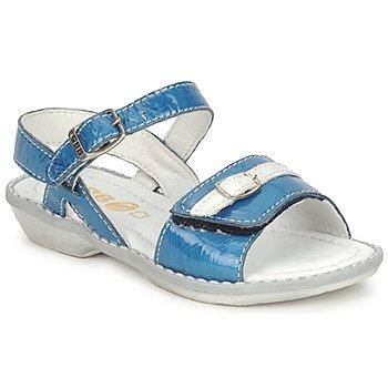 Scarpe Bambina Sandali GBB CARAIBES FIZZ Blu / Bianco