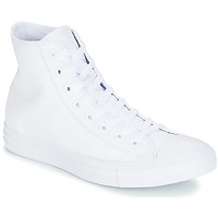 Scarpe Sneakers alte Converse ALL STAR MONOCHROME CUIR HI Bianco