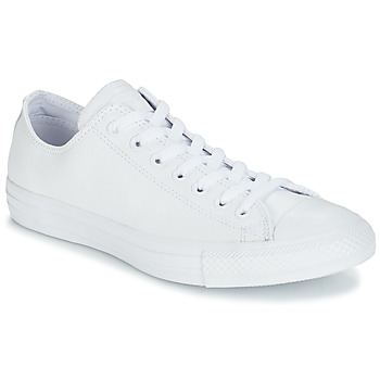 Scarpe Sneakers basse Converse ALL STAR MONOCHROME CUIR OX Bianco