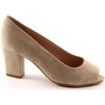 Scarpe Grunland  BEND SC1142 beige scarpe donna decolletè spuntato camoscio