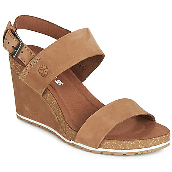 Scarpe Donna Sandali Timberland CAPRI SUNSET WEDGE Marrone