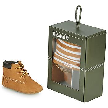 Scarpe Unisex bambino Pantofole Timberland CRIB BOOTIE WITH HAT Grano / Marrone