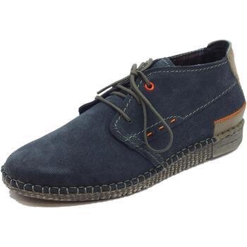Scarpe Uomo Sneakers basse Zen Scarpe  per uomo in camoscio blu punzonato Orione Cenere