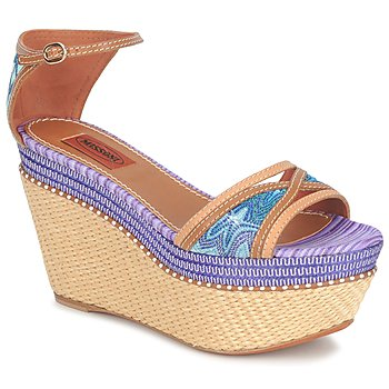 Scarpe Donna Sandali Missoni TM26 Blu / Marrone