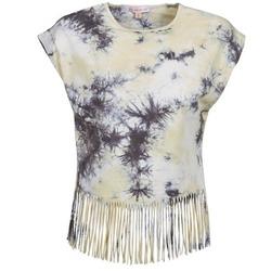 Abbigliamento Donna T-shirt maniche corte Moony Mood CACILIA Grigio / Giallo