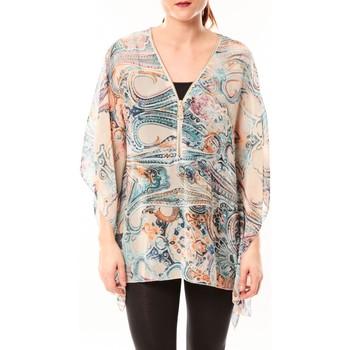 Abbigliamento Donna Camicie De Fil En Aiguille Tunique Love Look 1218 Bleu Blu