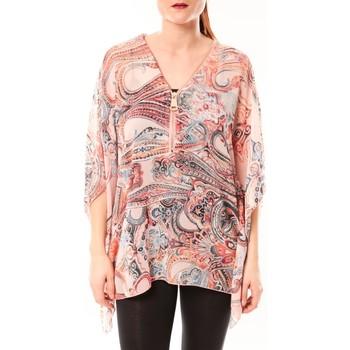 Abbigliamento Donna Camicie De Fil En Aiguille TuniqueLove Look 1218 Rose Rosa