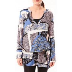 Abbigliamento Donna Abiti corti De Fil En Aiguille Tunique Love Look 1102 Bleu Blu