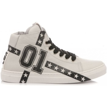 Scarpe Unisex bambino Sneakers alte Be Kool Sneakers Bambino Pelle Bianco bianco