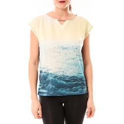 Abbigliamento Donna T-shirt maniche corte Little Marcel Tee-shirt Trisi E15FTSS0333 Bleu Blu