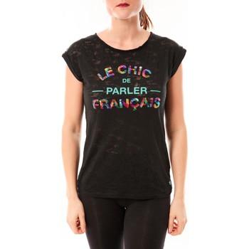 Abbigliamento Donna T-shirt maniche corte Little Marcel Tee-shirt Tamia E15FTSS0124 Noir Nero