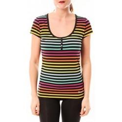 Abbigliamento Donna T-shirt & Polo Little Marcel Tee-shirt Tatoum Multi 315FN Noir Nero