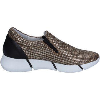 Scarpe Donna Slip on Elena Iachi slip on mocassini oro glitter nero pelle BT588 oro