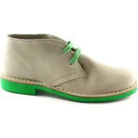 Scarpe Stivaletti Manifatture Italiane 2361 ghiaccio scarpe unisex pedule desert boot Beige
