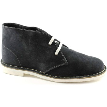 Stivaletti Manifatture Italiane  190 blu scarpe uomo pedule desert boot