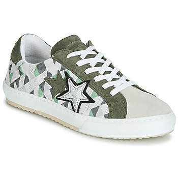 Scarpe Donna Sneakers basse Mustang 2874302-277 Kaki   Bianco a4affc346c6