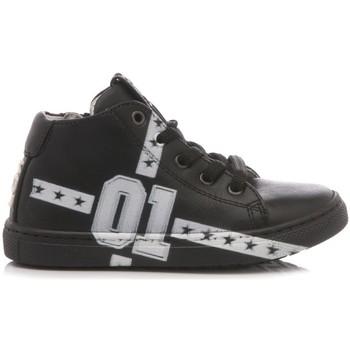 Scarpe Bambino Sneakers alte Be Kool Sneakers Bambino Pelle Nero nero