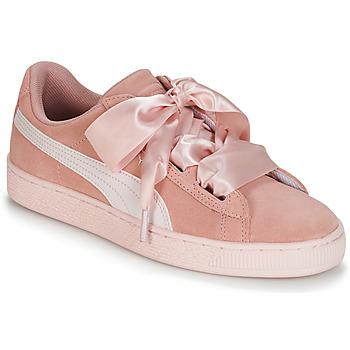 Scarpe Bambina Sneakers basse Puma JR SUEDE HEART JEWEL.PEACH Rosa