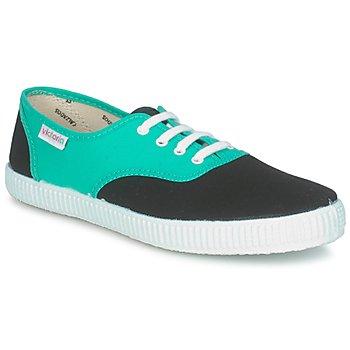 Scarpe Sneakers basse Victoria 6651 Ciano / Nero