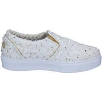 Scarpe Donna Slip on Balada 2 STAR slip on bianco tessuto oro BZ525 Bianco