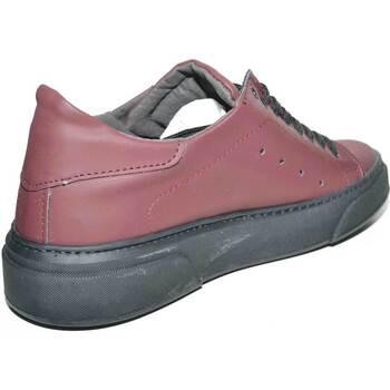Scarpe Uomo Sneakers basse Malu Shoes Sneakers bassa uomo invernale in pelle gommata bordeaux tessuto BORDEAUX