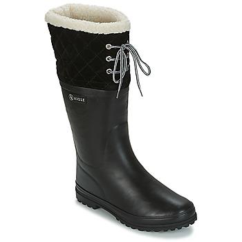 Scarpe Donna Stivali da pioggia Aigle POLKA GIBOULEE Nero