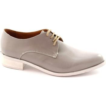 Scarpe Donna Derby Mat:20 2502 LUX sasso scarpe donna lacci vernice punta Grigio