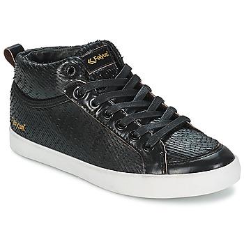 Scarpe Donna Sneakers alte Feiyue DELTA MID DRAGON Nero