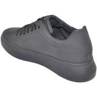 Scarpe Uomo Sneakers basse Malu Shoes Sneakers scarpe uomo bassa nero made in italy tomaia in gommato NERO