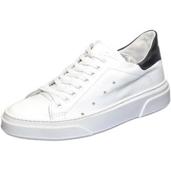 Scarpe Uomo Sneakers basse Malu Shoes Sneakers bassa uomo invernale in vera pelle bianco fortino nero BIANCO