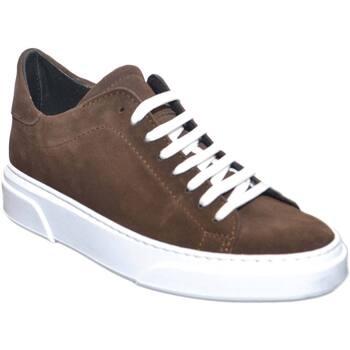 Scarpe Uomo Sneakers basse Malu Shoes SNEAKERS BASSA UOMO INVERNALE IN VERO CAMOSCIO TESTA DI MORO FO MARRONE