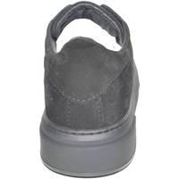 Scarpe Uomo Sneakers basse Malu Shoes SNEAKERS BASSA UOMO INVERNALE IN VERO CAMOSCIO NERO FONDO CRUEL NERO