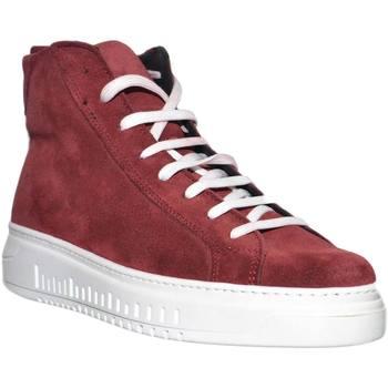 Scarpe Uomo Sneakers alte Malu Shoes Sneakers uomo alta a stivaletto linea basic in vera pelle camos BORDEAUX