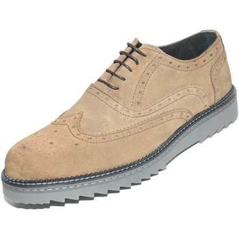 Scarpe Uomo Derby Malu Shoes SCARPE UOMO STRINGATA SCAMOSCIATA TAUPE VERA PELLE MADE IN ITAL BEIGE