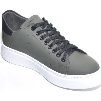 Scarpe Uomo Sneakers basse Malu Shoes Sneakers uomo bassa linea basic in vera pelle gommata verde mil VERDE