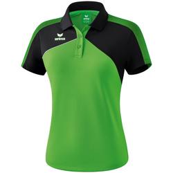 Abbigliamento Donna Polo maniche corte Erima Polo femme  Premium One 2.0 vert/noir/blanc