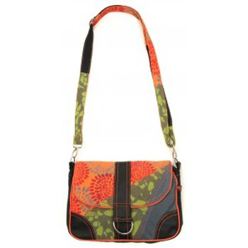 Borse Donna Tracolle Bamboo's Fashion Petit Sac Besace New Dehli GN-144 Orange/Vert Arancio