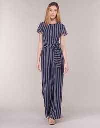 Abbigliamento Donna Tuta jumpsuit / Salopette MICHAEL Michael Kors MEGA RAILRD ST  JMPST Marine / Bianco